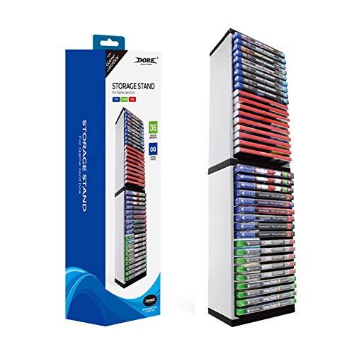 Per PS4 Game Storage Tower Porta Giochi PS4 - Universal Games Storage Tower - Game Disc Tower Stand CD Storage Holder Disc Rack per PS5 - Rack di archiviazione giochi Per PS5 PS4 NS XBOX