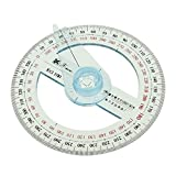 Circular 10 cm de Plástico 360 Grados Transportador Puntero Regla Gobernador Angular Brazo Oscilante Suministros de Oficina de Escuela