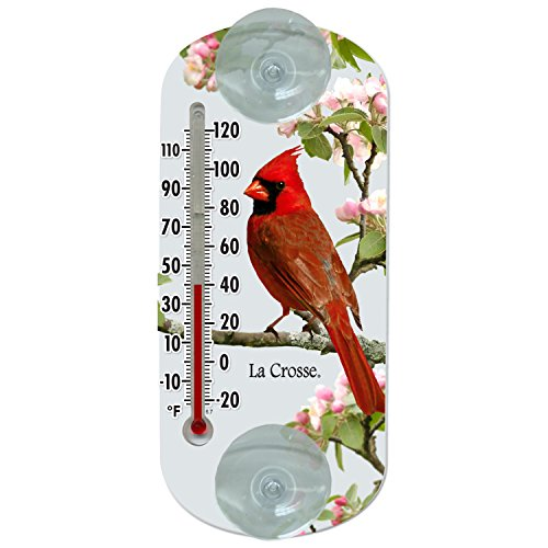 Lacrosse La Crosse 204-1081 8 Inch Traditional Thermometer with Cardinal Design, 8""