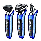 SURKER Electric Shaver Men Rotary Shaver Wet And Dry 3 In 1 With