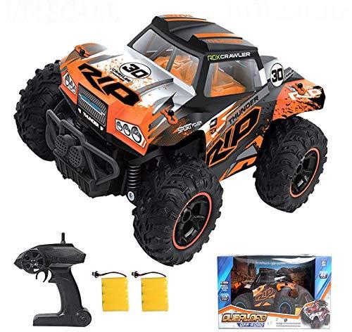 heyesupio Wasserdichter RC Truck 4x4 Offroad ferngesteuertes Auto für Jungen Crawler RC Cars für Kinder Mädchen,Schwarz