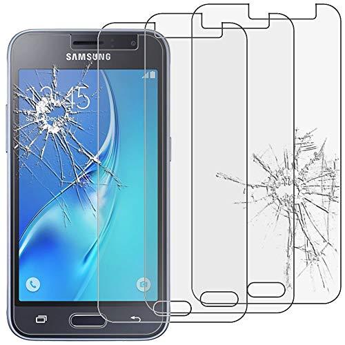 ebestStar - kompatibel mit Samsung Galaxy J1 2016 Panzerglas x3 Galaxy J1 4G SM-J120F Schutzfolie Glas, Schutzglas Bildschirmschutz, Bildschirmschutzfolie 9H gehärtes Glas [Phone: 132.6x69.3x8.9mm, 4.5'']