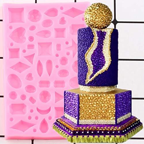 LNOFG 3D Kuchen Grenze Silikonform Kuchen Dekorationswerkzeug Kuchen Candy Chocolate Fudge Mold