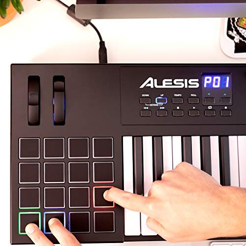 Alesis VI49   49-Key USB MIDI Keyboard Controller with 16 Pads, 12 Assignable Knobs, 36 Buttons and 5-Pin MIDI Out, Plus a Professional Software Suite with ProTools   First Included