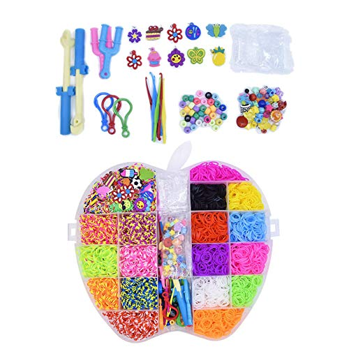 AIflyMi Kit de fabricación de Bandas de Telar, 5000 Bandas de Goma de Alta Elasticidad, Creatividad Kit de Bricolaje para niños, con pequeños Accesorios Decorativos