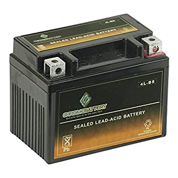 Replacement YTX4L-BS Battery - High Performance Power Sports Rechargeable Replacement for Scooters and Lawnmowers Chrome Battery