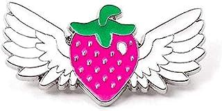 Broche FOPUYTQABG de moda de fresa Ángel Chica de ala Pin Pin Pin de juego insignia decoración en mochila ropa decoración ...