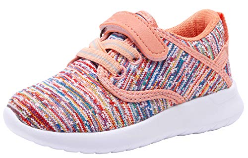 COODO Toddler Kid's Sneakers Boys Girls Cute Casual Running Shoes (9 Toddler,Multicoloured)
