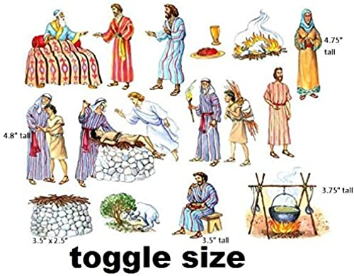 Abraham & Isaac Toggle Taille Felt Figures for Flannel Board Bible Stories-precut by Story Time Felts