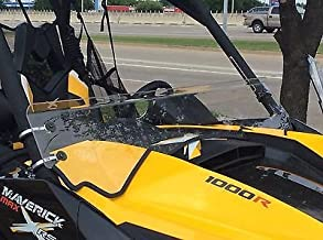 A&S AUDIO AND SHIELD DESIGNS 2013-2018 Can Am Maverick Max 1000r 1/4'' Polycarbonate Half Windshield