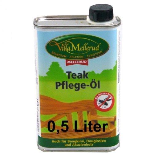 Teak Pflege-Öl mit Wespenschutz 0,5l Villa Mellerud