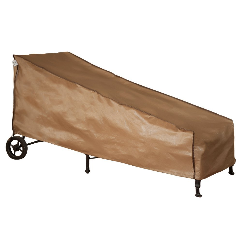 Abba Patio Funda Protectora Impermeable para Tumbona Cubierta Mueble de Jardín Medidas 213 x 86 x 86 cm, Color Marrón: Amazon.es: Jardín