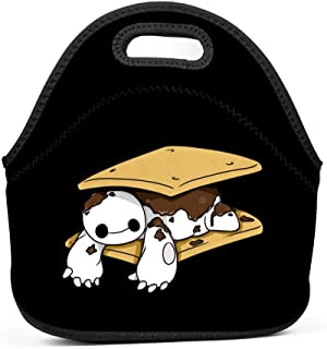 Neoprene Lunch Bag - Removable Shoulder Strap-Large Size Reusable Lunch Handbag, Baymax Sandwich Tote Waterproof Outdoor Travel Picnic Carry Case Lunchbox with Zipper for Womens Mens Boys Girls