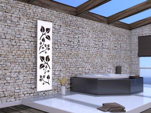 Badheizkörper Design Leaves 3, HxB: 180 x 47 cm, 1118 Watt, moonstone-grau (metallic) / weiß (Marke: Szagato) Made in Germany/Bad und Wohnraum-Heizkörper (Mittelanschluss)