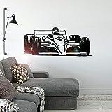 Deportes de motor pegatinas de pared habitación de los niños pegatinas de arte mural dormitorio decoración del hogar pegatinas de fondo A5 57x24cm