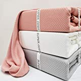 Super Cozy 100% Bamboo Fiber Blanket. Ultra Softness and smothness Like Silk. Drop Well with Heavy Weight. Much Better Than Normal Blankets. Sweet for Anyone You Love (Queen, Dusty Coral)