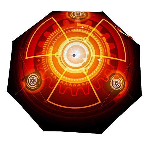 Ombrello pieghevole Radioactive Techno Ombrello Open Close Antivento Ombrello Leggero compatto Outdoor Ombrelli Sun & Rain