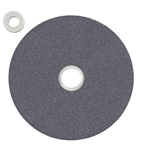 kwb by Einhell Schleifscheibe 150x12,7x20 mm G60 Doppelschleifer-Zubehör (Ø150 x 12.7 x 20 mm, Grobschleifscheibe G60, passend für Einhell Doppelschleifer, inkl. 4 Verbindungsstücke)