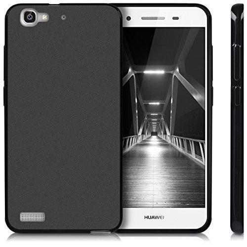kwmobile Huawei GR3 / P8 Lite SMART Hülle - Handyhülle für Huawei GR3 / P8 Lite SMART - Handy Case in Schwarz matt - 5