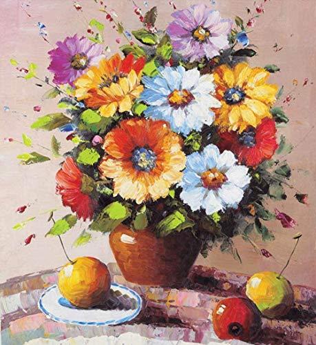 Yycsqy DIY 5D Schilderset, diamantschilderset, wanddecoratie, 40 x 50 cm, bloom bloempotten, naaiset, kruissteekset, handwerk, strass, geschenken
