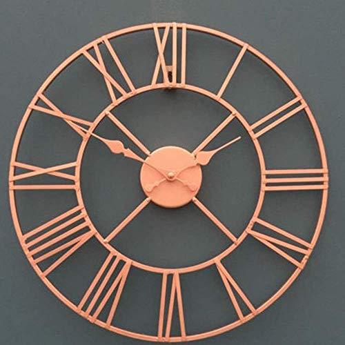 Reloj de Pared Relojes Que cuelgan Cuadros murales Minimalista Hierro Sala de Estar Reloj de Pared de Estilo Europeo Retro Creativa de Pared