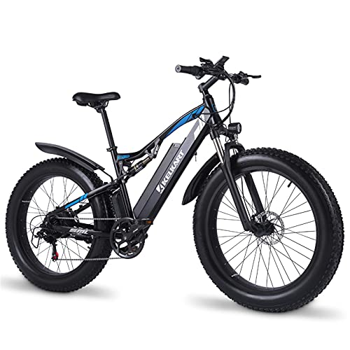 KELKART Electric Bike 48V 17Ah for Adults Fat Tire Mountain Bike with XOD Front and Rear Hydraulic Brake System