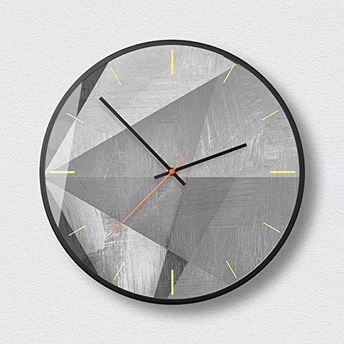 Reloj de pared Cincuenta grados Gris-Negro Marco montado Arte Decorativo Reloj de pared Moderno Hogar Dormitorio Reloj silencioso Arte minimalista Reloj de pared Hermoso y duradero Fácil de usar