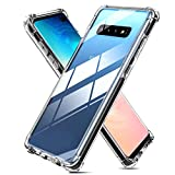 Weuiean for Galaxy S10 Plus Clear Case [Shockproof Drop Protection] with [Sound Conversion] Feature Flexible Soft Silicone Bumper Protective Cover Case for Galaxy S10+ 6.4' -Transparent