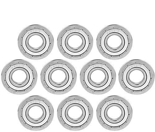 Rodamiento en miniatura, 10 piezas F6001ZZ Rodamientos de bolas con brida en miniatura con doble blindaje 12x28x8mm