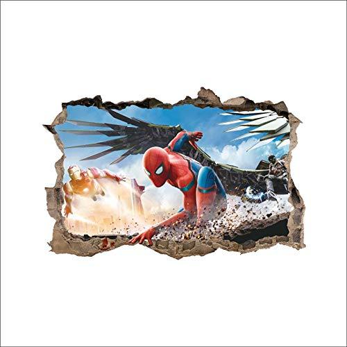 Kreative 3D Broken Wall Hollywood Film Superheld Spider Art Aufkleber PVC Wandaufkleber Junge Schlafzimmer Home Decor Wandbild Poster Kinder Geschenk