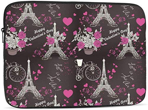 Dachshund in Space Laptop Sleeve Bag Compatible with 10-17 Inch Fashion Computer Bag Laptop Case-Fashion Eifel Tower,17inch