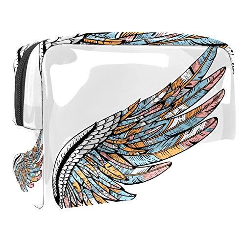 Bolsa de maquillaje portátil con cremallera bolsa de aseo de viaje para mujeres práctico almacenamiento cosmético bolsa ala