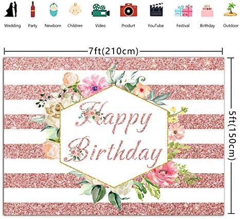 HB053 Flower Birthday Background
