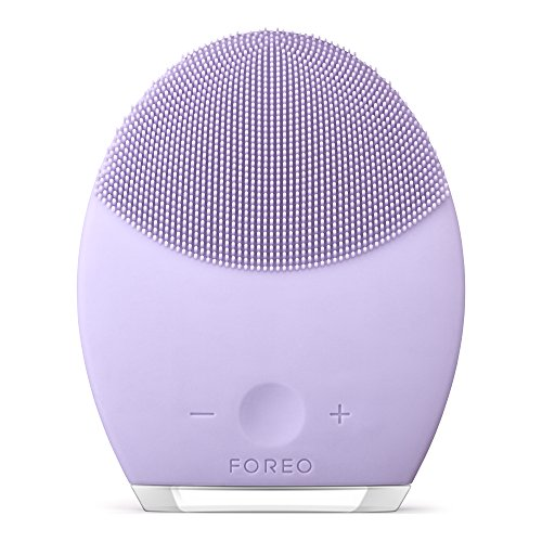 FOREO LUNA 2 Facial Cleansing Brush and Portable Skin Care device made with Ultra Hygienic Soft Silicone for Every Skin Type USB Rechargeable Sensitive Skin
