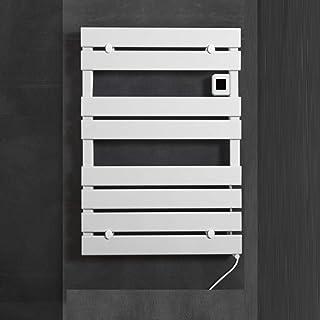 L.BAN Calentador Secador De Toallas Energía Eficiente Eléctrico Radiador Acero Inoxidable Toallero, Montado en la Pared, White