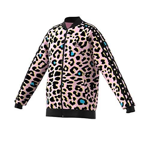 adidas Originals Kids Girl's Leopard Track Top (Little Kids/Big Kids) Multicolor/Black SM (7-8 Big Kids)