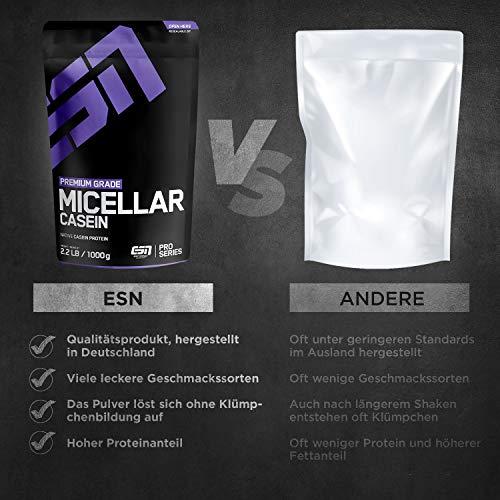 ESN Micellar Casein, Pro Series, Chocolate, 1er Pack (1 x 1000g Beutel) - 3