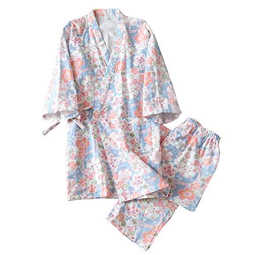 Kimono de Pijama de Mujer japonés camisón Talla M-A04