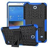 XITODA Hülle für Samsung Galaxy Tab 4 7.0, Hybrid TPU Silikon und Schwer PC Cover Schutzhülle für Samsung Galaxy Tab 4 7.0 SM-T230/T231/T235 Tablet Hülle Hülle mit Kickstand/Stand - Dunkelblau