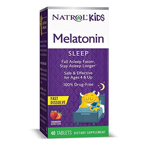 Natrol Kids' Melatonin Fast Dissolve Tablets - Strawberry Flavor - 40 Count