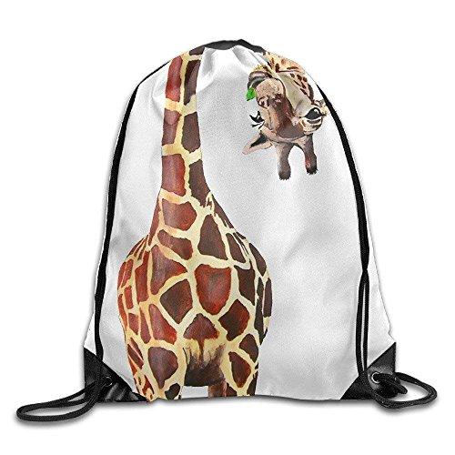 DSGFSQ Sporttaschen Turnbeutel Drawstring Backpack Giraffe Print Rucksack Shoulder Bags Gym Bag 17
