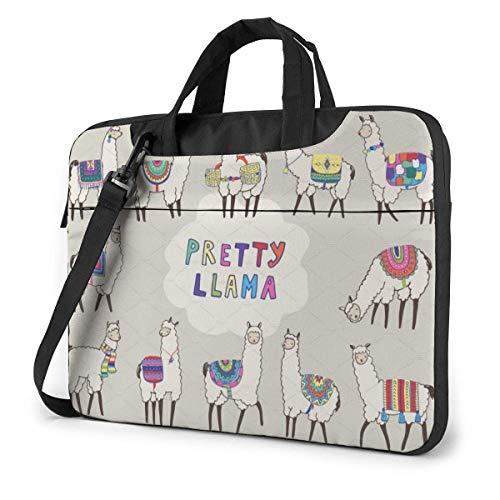 Pretty Llama Laptop Sleeve Case 14 Inch Computer Tote Bag Shoulder Messenger Briefcase for Business Travel