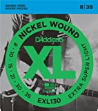 D'Addario EXL130 Nickel Wound 8-38 Extra Super Light Electric Guitar Strings