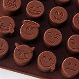 Koedu Emoji Emoticon Silikon Schkoladenform Selber Machen DIY Pralinenformen