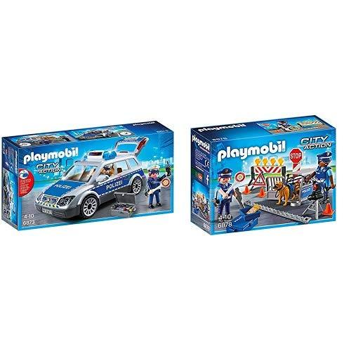 Playmobil 6873 - Polizei-Einsatzwagen &  6878 - Polizei-Straßensperre