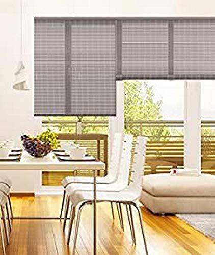 madecostore - Estor Enrollable de bambú – Color Gris – 83 x 180 cm – Fijación con Agujeros – Estor de Madera