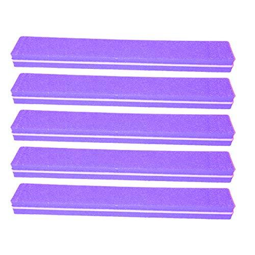 5 pièce Tampon Lime À Ongles Violet Largeur Droite - Fichier Tampon Pour Salon De Ongles - 100/180 Grit - Tampon Professionnel