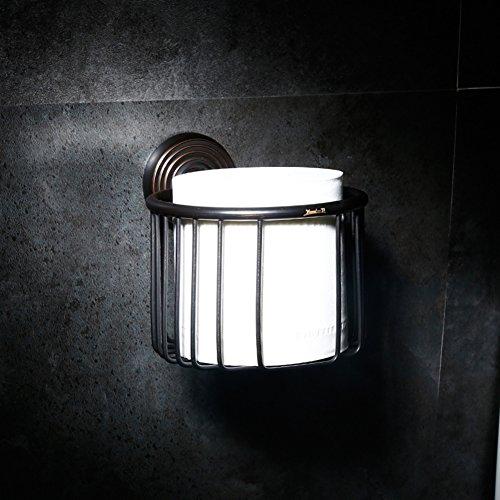 Estilo europeo toallero Parrilla de cobre todos Estante de la toalla Accesorios de baño retro-F