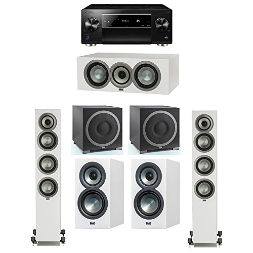Why Should You Buy ELAC Uni-Fi Slim White 5.2 System with 2 FS-U5 Floorstanding Speakers, 1 CC-U5 Ce...