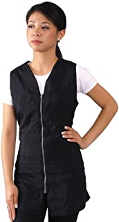 JMT Beauty Black Zipper Sleeveless Salon Smock XXL (14)